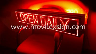 LED mobile information system sign to be use in restaurant and bistro pub to give you the most eye-catching electronic board (click for more detail)