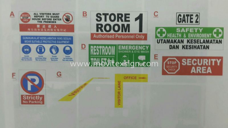 safety first n security check  or no entry sign  Factory sign Johor Bahru (JB), Johor, Malaysia. Design, Supplier, Manufacturers, Suppliers | M-Movitexsign Advertising Art & Print Sdn Bhd