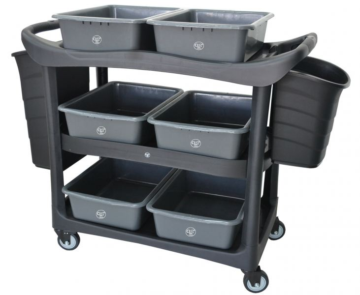 EH 3 Tiers Utilities Cart c/w Buckets 3UC-606 Cart Trolley/Front Office/House Keeping/Restaurant/Kitchen Malaysia, Selangor, Kuala Lumpur (KL), Shah Alam. Supplier, Suppliers, Supply, Supplies | Elite Hygiene (M) Sdn Bhd