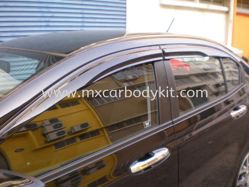 HONDA CITY 2009-2014 MUGEN DOOR VISOR DOOR VISOR ACCESSORIES AND AUTO PARTS Johor, Malaysia, Johor Bahru (JB), Masai. Supplier, Suppliers, Supply, Supplies | MX Car Body Kit