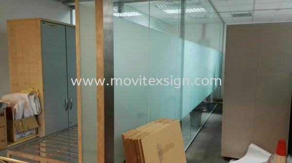 tinted sandblast film / frosted bigger film office glass divider floor plan  Glass Display Johor Bahru (JB), Johor, Malaysia. Design, Supplier, Manufacturers, Suppliers | M-Movitexsign Advertising Art & Print Sdn Bhd