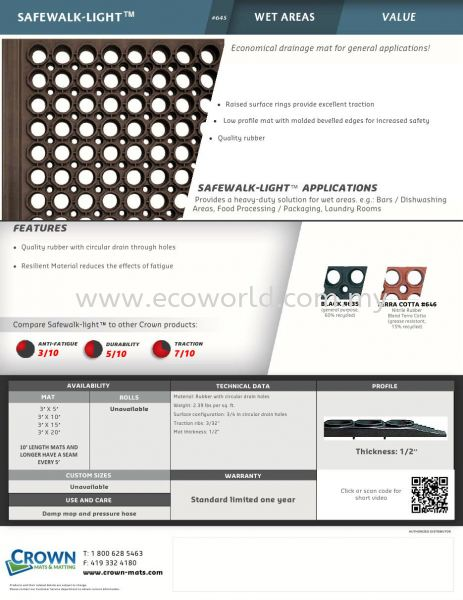 Safe Walk Light Catalog Safe Walk Light Industrial Rubber Mat Malaysia Supplier, Supply, Supplies | ECO WORLD HYGIENE (M) SDN BHD