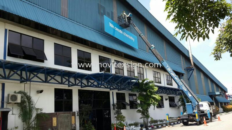 Pasir Gudang factory signboard /New upgrade  Installation / Dismantle and Washing Services Johor Bahru (JB), Johor, Malaysia. Design, Supplier, Manufacturers, Suppliers | M-Movitexsign Advertising Art & Print Sdn Bhd