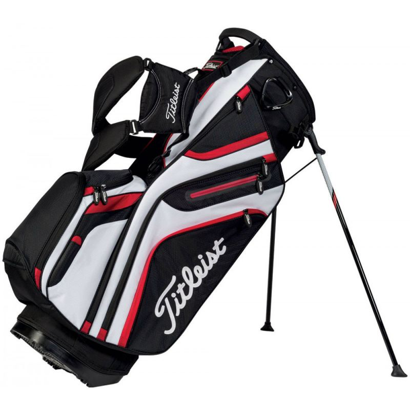 TITLEIST 14-WAY STAND BAG TB5SX14-016 White/Black/Red