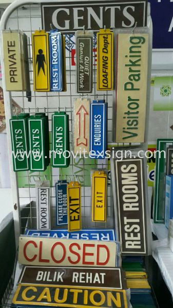 Door Sign / Safety Signage/imported ready made sign  Ready Stock Signage Johor Bahru (JB), Johor, Malaysia. Design, Supplier, Manufacturers, Suppliers | M-Movitexsign Advertising Art & Print Sdn Bhd