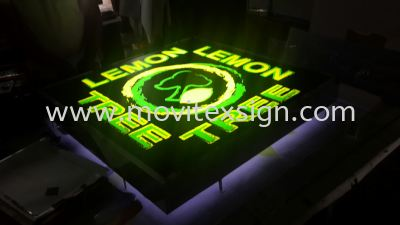Backlit lighting with GI strip panel and 3D box up to give you a better image for your signboard (click for more detail)