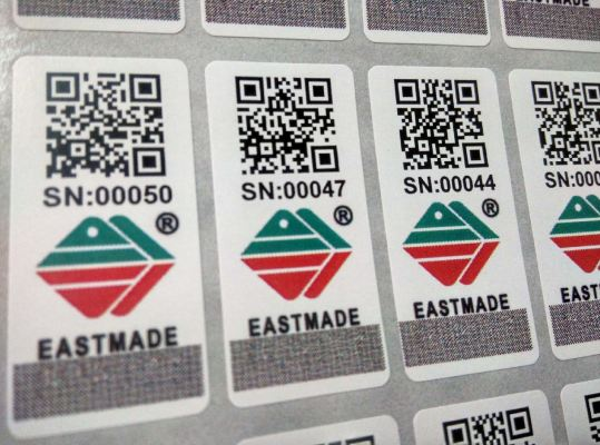 Full Color QR Code Online Tracking Label