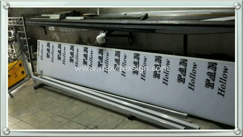 polycarbonate board finish with metal structural frame not aluminium edge   Production Johor Bahru (JB), Johor, Malaysia. Design, Supplier, Manufacturers, Suppliers | M-Movitexsign Advertising Art & Print Sdn Bhd