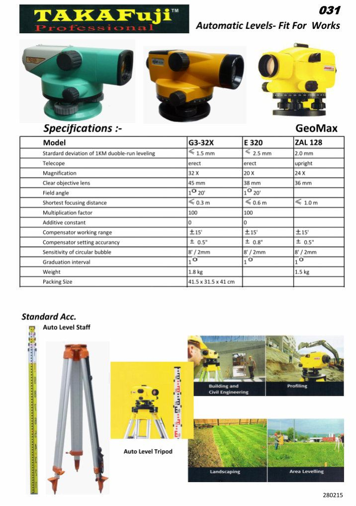 Automatic Levels-Fit For Works Laser Leveling Machine Leveling Machine Selangor, Kuala Lumpur (KL), Semenyih, Malaysia Supplier, Suppliers, Supply, Supplies | GWM Marketing Sdn Bhd