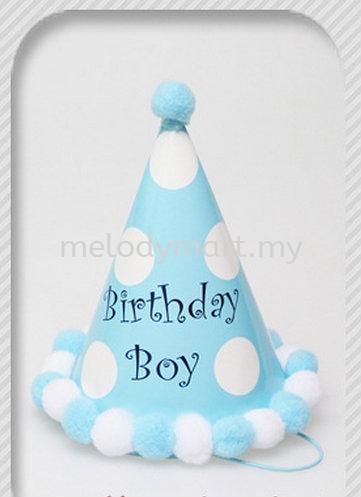 Party Hat Blue / Dots / Birthday Boy