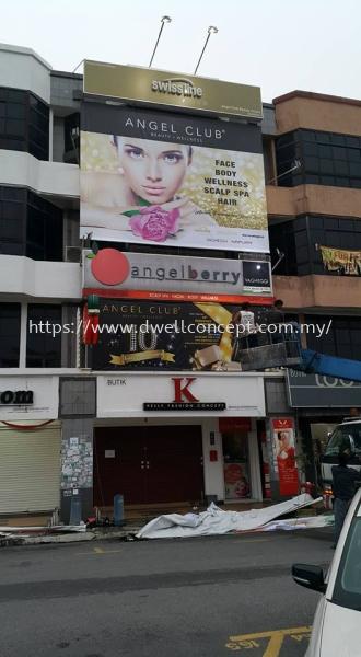 Angel Club Beauty & Wellness - Klang Bayu Perdana Banner (Inkjet Printing) Printing Service Klang, Selangor, Kuala Lumpur, KL, Malaysia. Supplier, Suppliers, Supplies, Supply | D Well Advertising (M) Sdn Bhd