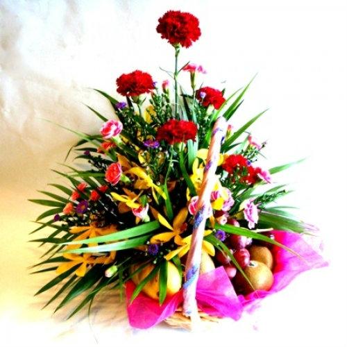 Fruit & Carnation Basket (FB-006) Fruit Basket Kuala Lumpur (KL), Selangor, Malaysia Supplier, Suppliers, Supply, Supplies   Shirley Florist