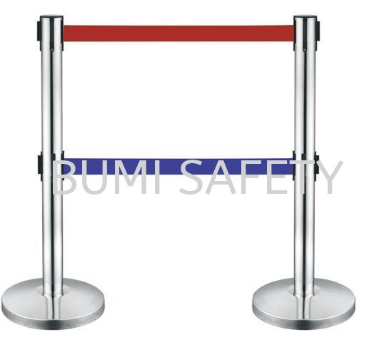 Stainless Steel Self Retractable Double Belt Q-UP Stand Safety Vest / Traffic Control Selangor, Kuala Lumpur (KL), Puchong, Malaysia Supplier, Suppliers, Supply, Supplies | Bumi Nilam Safety Sdn Bhd
