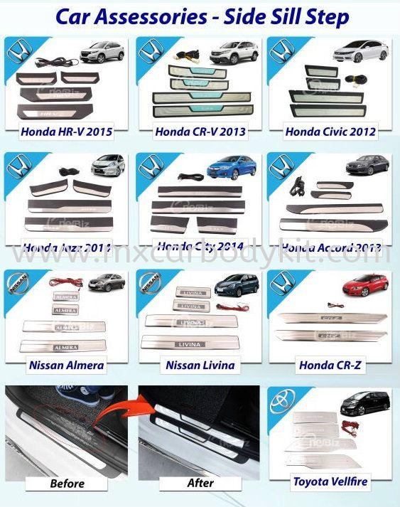 SIDE SILL PLATE SIDE SILL PLATE ACCESSORIES AND AUTO PARTS Johor, Malaysia, Johor Bahru (JB), Masai. Supplier, Suppliers, Supply, Supplies | MX Car Body Kit