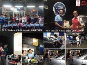 MR Brian Chin  Student from BRUNEI attended (Polishing & Management Business)