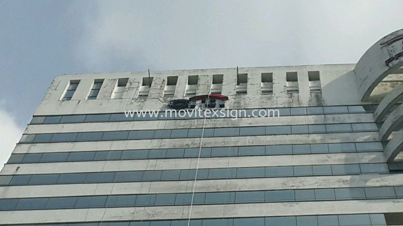 neon repair at jb city plaza building 27floor by using  Condola equipment  NEON Signage LED Signage and Neon Signboard Johor Bahru (JB), Johor, Malaysia. Design, Supplier, Manufacturers, Suppliers | M-Movitexsign Advertising Art & Print Sdn Bhd