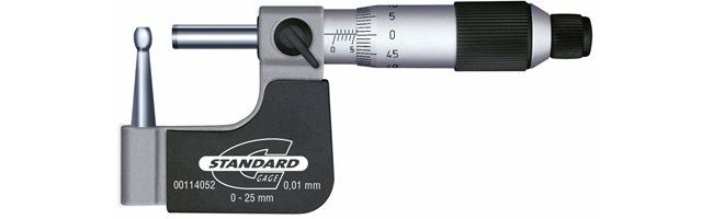Standard gage - Special purpose micrometers - External micrometer for tube wall thickness Micrometers Small Dimensional Gauging Malaysia, Selangor, Kuala Lumpur (KL) Supplier, Suppliers, Supply, Supplies   Obsnap Instruments Sdn Bhd
