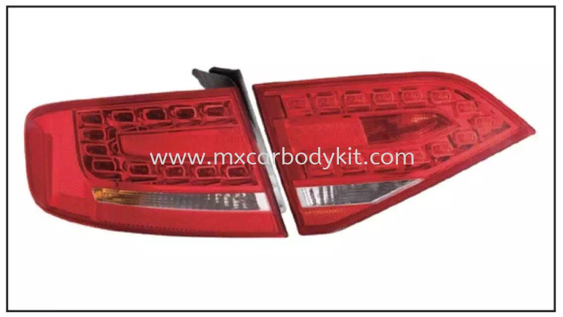 AUDI RS4 REAR LAMP CRYSTAL LED RED/CLEAR TAIL LAMP ACCESSORIES AND AUTO PARTS Johor, Malaysia, Johor Bahru (JB), Masai. Supplier, Suppliers, Supply, Supplies | MX Car Body Kit
