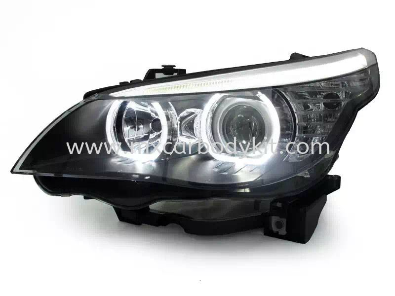BMW E60 2005 HEAD LAMP PROJECTOR W/CCFL + LED HEAD LAMP ACCESSORIES AND AUTO PARTS Johor, Malaysia, Johor Bahru (JB), Masai. Supplier, Suppliers, Supply, Supplies | MX Car Body Kit