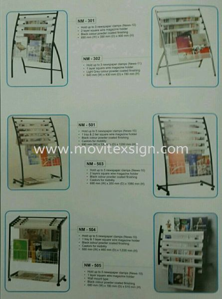 newspaper  holder or racking  Ready Stock Signage Johor Bahru (JB), Johor, Malaysia. Design, Supplier, Manufacturers, Suppliers | M-Movitexsign Advertising Art & Print Sdn Bhd