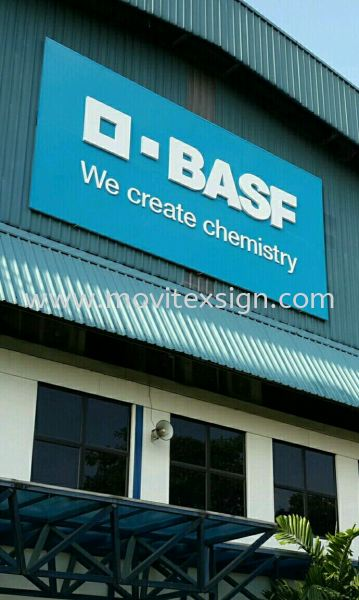 factory sign in 3D Aluminium lettering on Alucobond Base  Factory sign Johor Bahru (JB), Johor, Malaysia. Design, Supplier, Manufacturers, Suppliers | M-Movitexsign Advertising Art & Print Sdn Bhd
