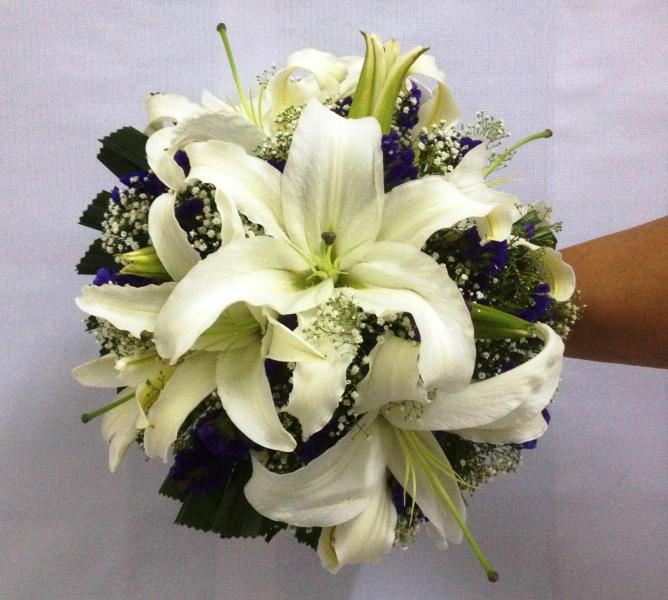 Lily Bridal Bouquet (BB-176) Bridal Bouquet Kuala Lumpur (KL), Selangor, Malaysia Supplier, Suppliers, Supply, Supplies | Shirley Florist
