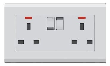 2 Gang 13A Switched Socket Switches and Sockets E3 Classic Series Johor Bahru JB Malaysia Supplier Supply Suppliers | Art Dna (M) Sdn Bhd