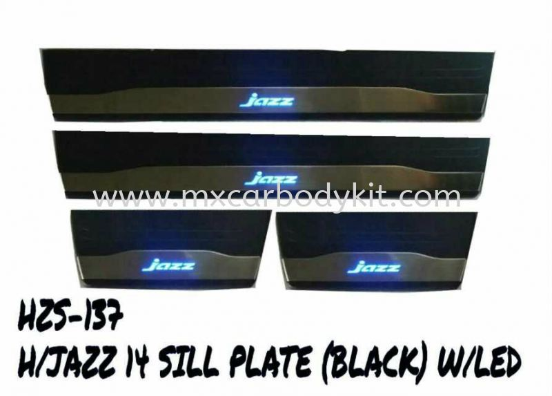 HONDA JAZZ 2014 SILL PLATE (BLACK) W/LED SIDE SILL PLATE ACCESSORIES AND AUTO PARTS Johor, Malaysia, Johor Bahru (JB), Masai. Supplier, Suppliers, Supply, Supplies | MX Car Body Kit