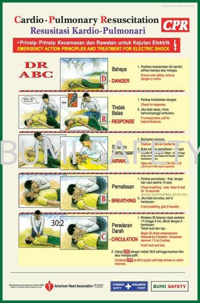 CPR BOARD Safety Signage Selangor, Kuala Lumpur (KL), Puchong, Malaysia Supplier, Suppliers, Supply, Supplies   Bumi Nilam Safety Sdn Bhd