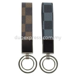Checkered PU Key Holder