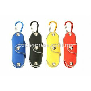 Rubberised Key Holder With Carabiner Hook