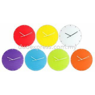 Colourful Glass Wall Clock
