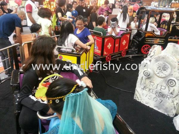 Train Bouncy Castle Singapore, Johor Bahru (JB) Magician, Entertainer, Planner, Comedian | Uncle Fishy Entertainment