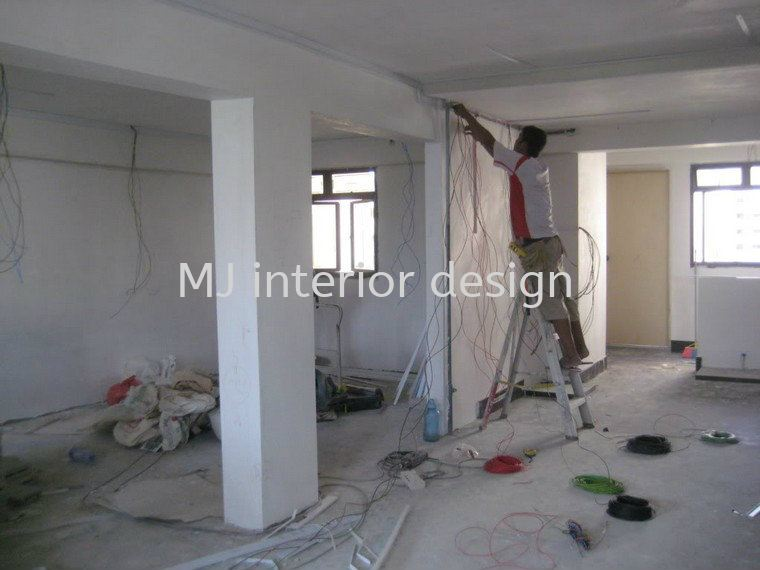 Lighting point Electrical wiring Renovation Work Penang, Gelugor, Malaysia Service, Design, Renovation | MJ Interior Design & Renovation