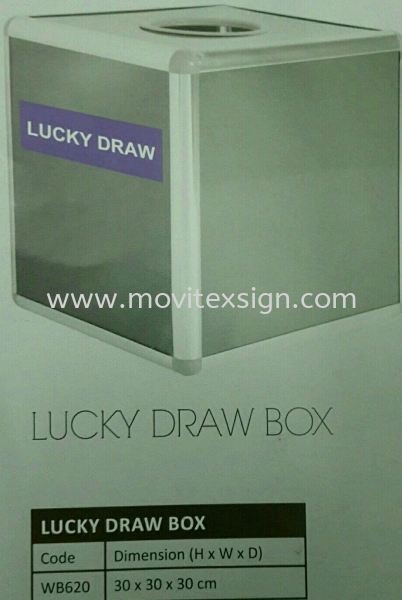 lucky draw box White board /Exhibition pannel /Ness Racks and others Johor Bahru (JB), Johor, Malaysia. Design, Supplier, Manufacturers, Suppliers | M-Movitexsign Advertising Art & Print Sdn Bhd