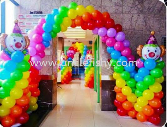 Arch & Column with Clown Balloon Balloon Decoration Singapore, Johor Bahru (JB) Magician, Entertainer, Planner, Comedian | Uncle Fishy Entertainment