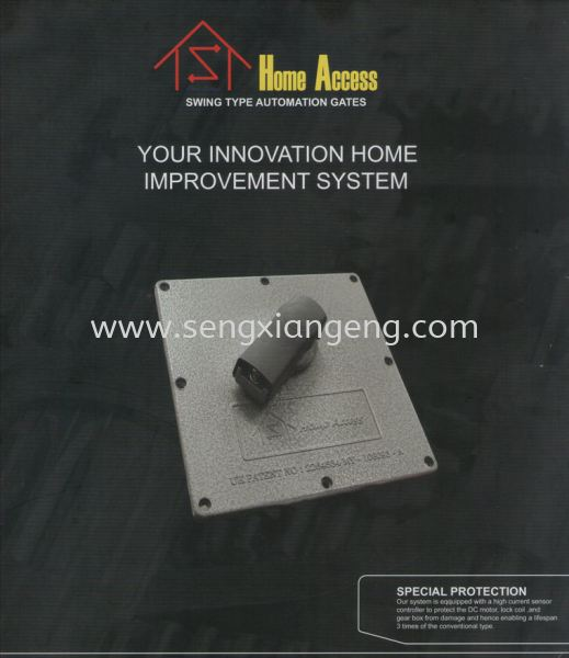Swing Type Automation Gates (Underground Auto Gate System) Home Access Autogate System Johor Bahru JB Electrical Works, CCTV, Stainless Steel, Iron Works Supply Suppliers Installation  | Seng Xiang Electrical & Steel Sdn Bhd