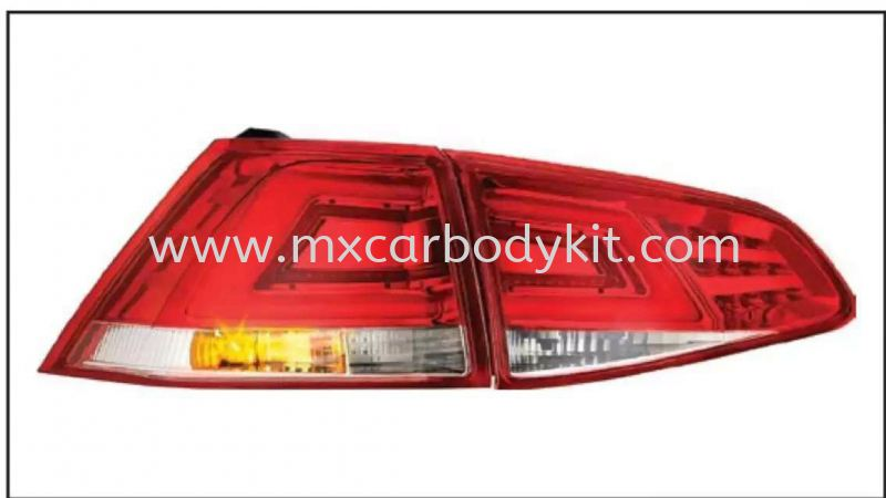 VOLKSWAGEN MK7 2013 & ABOVE REAR LAMP CRYSTAL LED + LIGHT BAR RED / CLEAR  TAIL LAMP ACCESSORIES AND AUTO PARTS Johor, Malaysia, Johor Bahru (JB), Masai. Supplier, Suppliers, Supply, Supplies | MX Car Body Kit