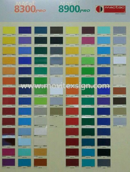 stickers colour  chart 8300 n 8900 series  Reference Color Johor Bahru (JB), Johor, Malaysia. Design, Supplier, Manufacturers, Suppliers | M-Movitexsign Advertising Art & Print Sdn Bhd