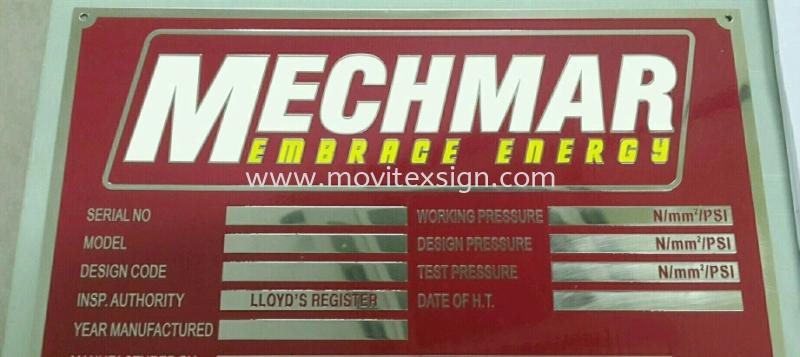 Mechine tag or Boilerplate /  Etachin / chemical Atachin plate Johor Bahru (JB), Johor, Malaysia. Design, Supplier, Manufacturers, Suppliers | M-Movitexsign Advertising Art & Print Sdn Bhd