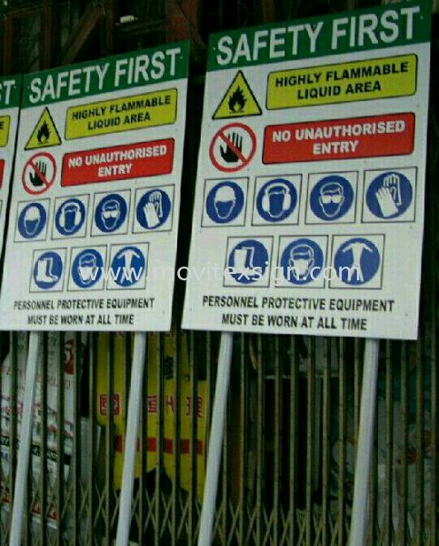 information factory sign  or production sign Safety Sign Sample Industry Safety Sign and Symbols Image Johor Bahru (JB), Johor, Malaysia. Design, Supplier, Manufacturers, Suppliers | M-Movitexsign Advertising Art & Print Sdn Bhd