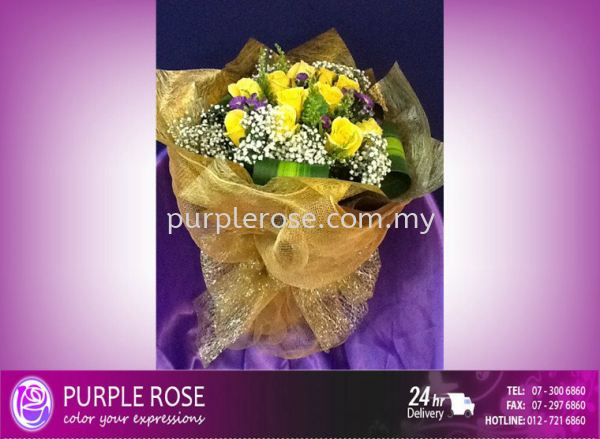 Valentine Bouquet 69 Valentines Day Johor Bahru Supply, Supplier, Delivery | Purple Rose Florist & Gifts