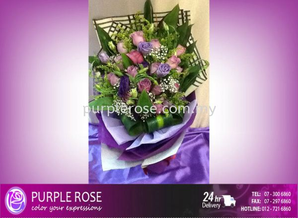 Valentine Bouquet 99 Valentines Day Johor Bahru Supply, Supplier, Delivery | Purple Rose Florist & Gifts