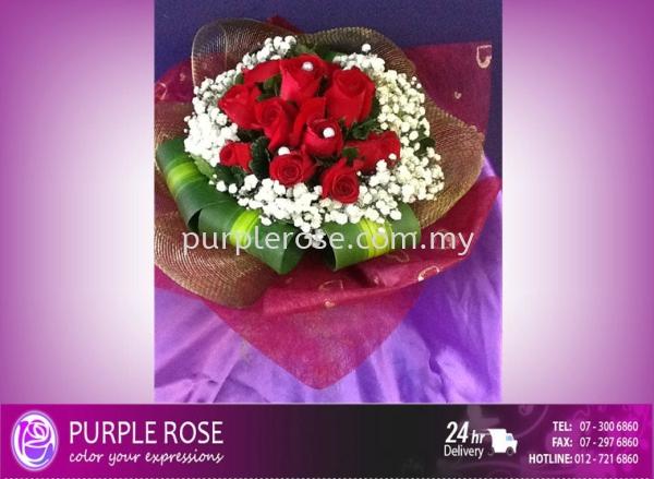 Valentine Bouquet 93 Valentines Day Johor Bahru Supply, Supplier, Delivery | Purple Rose Florist & Gifts