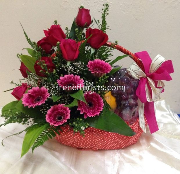FB 005 Fruit and Floral Basket Taiping, Perak, Malaysia. Suppliers, Supplies, Supplier, Supply | Irene's Florists De Beaute