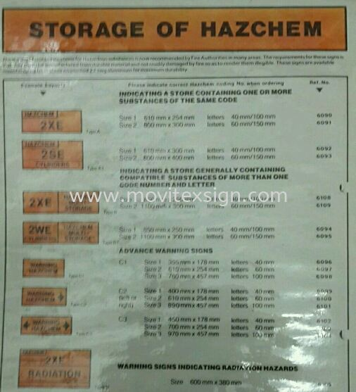 hazcham jb of storage safety sign or label Sticker Label safety sign sample Johor Bahru (JB), Johor, Malaysia. Design, Supplier, Manufacturers, Suppliers | M-Movitexsign Advertising Art & Print Sdn Bhd