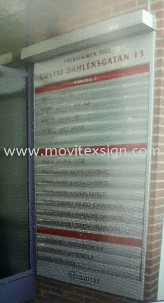 entrance  directory systems profile  Material Johor Bahru (JB), Johor, Malaysia. Design, Supplier, Manufacturers, Suppliers   M-Movitexsign Advertising Art & Print Sdn Bhd