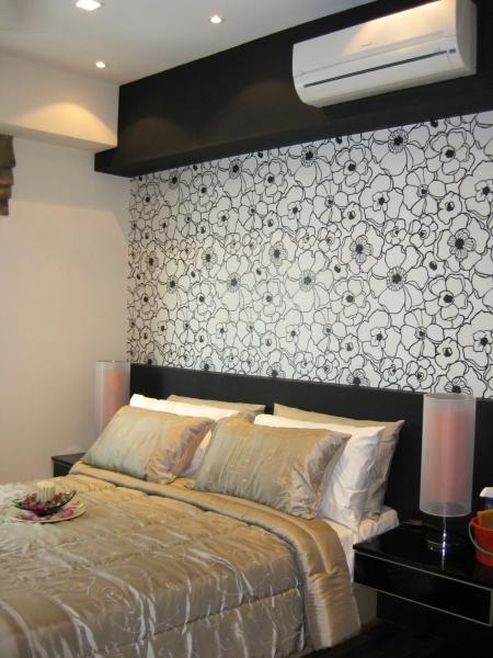 Headboard Design Wallpaper with Laminated Headboard design Guest Room Selangor, Kuala Lumpur (KL), Malaysia, Kajang Service | Xenn Interior Design