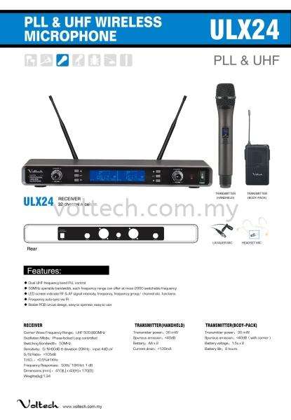 ULX24 Voltech Wireless Microphone Johor Bahru, JB, Johor, Malaysia. Supplier, Suppliers, Supplies, Supply | Voltech Professional