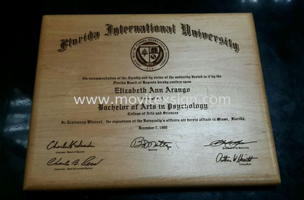 wood certificate by laser  engraving (special  Edition ) Laser Engraving Marking & Cut Johor Bahru (JB), Johor, Malaysia. Design, Supplier, Manufacturers, Suppliers | M-Movitexsign Advertising Art & Print Sdn Bhd